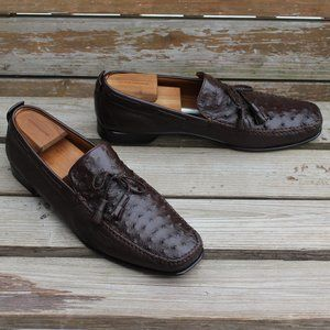 Genuine Ostrich & Lamb Loafers, Hand Made in Spain